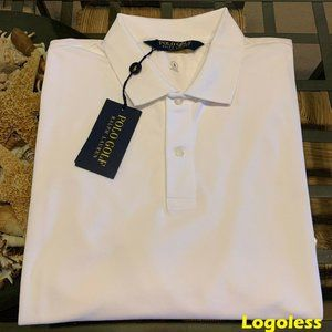 $90 POLO RALPH LAUREN MEN XL WHITE PIMA POLO NWT